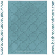 Blue Spa Retreat Memory Foam Bath Mat : Non Skid, Microfiber, Trellis Design