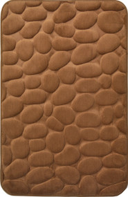 Mocha Brown Memory Foam Bath Mat Set : Non Skid, Day Spa, Home Dynamix