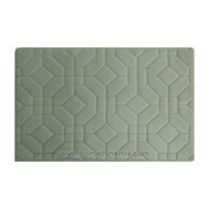 Dusty Mint Green Blue Memory Foam Bathroom Mat/rug: Day Spa Tiles Design Soft Absorbent Non-skid