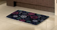 "Geo Printded Design Memory Foam Bath Mat/rug : 17"" X 24"", Non-slip Backing, Soft Padded"