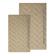 Linen-sand Colored Memory Foam Bath Mat/rug : Brick Design, Spa Soft Microfiber, Non Skid Backing