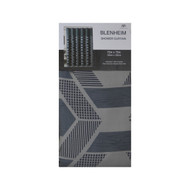 Thick Fabric Shower Curtain with Geometrical Design (Gray & Silver)