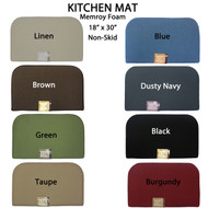"Versatile Non-Skid Memory Foam Mat/rug: Kitchen, Laundry Room, Front Door, 18"" x 30"""