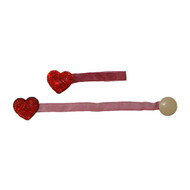 Red Heart 2 Pc Crystal Magnetic Window Curtain Drapery Tie Back Clips - Hardware/Mount Free