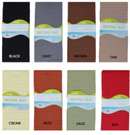 """Microfiber Dish Drying Mat: 15"""" x 20"""", Cushioned, Absorbent, Fast Drying"""