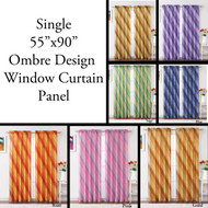 Single Crushed Taffeta Ombre Window Curtain Panel