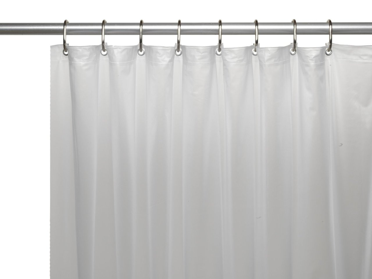 Carnation Home Fashions 3-Gauge Vinyl Shower Curtain Liner with Metal Grommets Brown