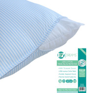 EZ Dreams Travel Size 100% Cotton Pillow Protector: 200 Thread Count, Zippered, 14in x 20in