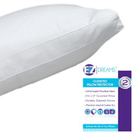 EZ Dreams King Size Velvet Touch Gusseted Pillow Protector: Microfiber, Zippered