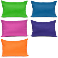 Bright Ideas Colored Hypo-Allergenic Pillow: Jumbo Size 20in x 28in Machine Washable, Made in the USA
