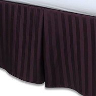 "Purple Luxury Bed Skirt: 100% Egyptian Cotton, 500 Thread Count, 15"" Drop"