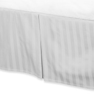 """White Luxury Bed Skirt: 100% Egyptian Cotton, 500 Thread Count, 15"""" Drop"""