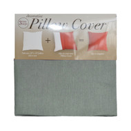 Silver Gray Decorative Pillow Case Cover: Square 18in x 18in, Zippered Closure