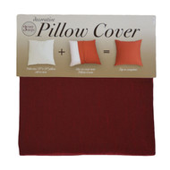 Burgundy Decorative Pillow Case Cover: Square 18in x 18in, Zippered Closure