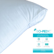 ISO-PEDIC Queen Zippered Quilted Pillow Protector: 100% Cotton Sateen, 233 Count