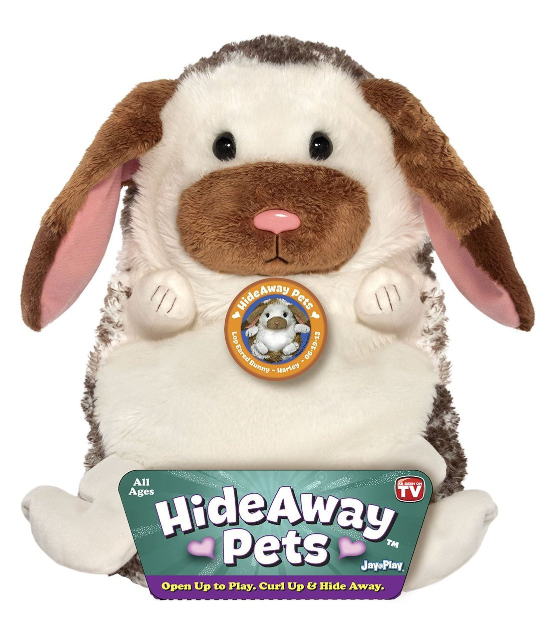 Hideaway Pets Lop Eared Bunny Plush Toy Animal 15in High Super