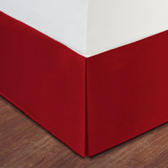 """Red Luxury Hotel Bed Skirt: Tailored Pleat, 14"""" Drop"""