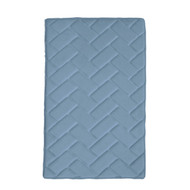 "BLUE Memory Foam Bath Mat Rug: 17"" x 24"", Brick Design, Soft, Non Slip Backing"