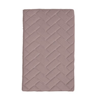 "Mauve Memory Foam Bath Mat Rug: 17"" x 24"", Brick Design, Soft, Non Slip Backing"