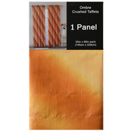 """Gold Crushed Taffeta Window Curtain Panel: 55""""W x 90""""L, Diagonal Ombre Design, Gold, Copper and Pale Yellow"""