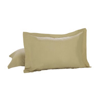 Taupe 2-Piece Luxury Hotel Tailored Pillow Case Shams: Standard/Queen
