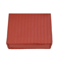 4-Piece Rust  Color Embossed Sheet Set with Fitted Sheet and 2 Pillowcase:  Full Size