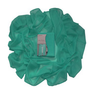 "Dark Teal Sheer Window Curtain Voile Scarf: 55""x 216"", Fully Hemmed on all 4 sides"