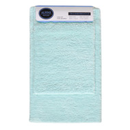Blue 2-Pc Plush Bath Mat/Rug: Non-Slip Backing, 20in x 30, 17in x 24in