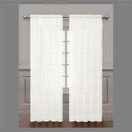 White Sheer Window Curtain Panel 2-Piece Set: Silky Chiffon, 55x84