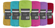 "Plush Fleece Throw Blanket: Super Soft, 50"" x 60"", Bright Colors"