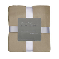 Taupe Velvet Plush Throw Blanket: Super Soft, Warm, 50in x 60in