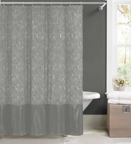 Add To Wish List. Click The Button Below To Add The Silver Faux Silk Fabric  Shower Curtain ...