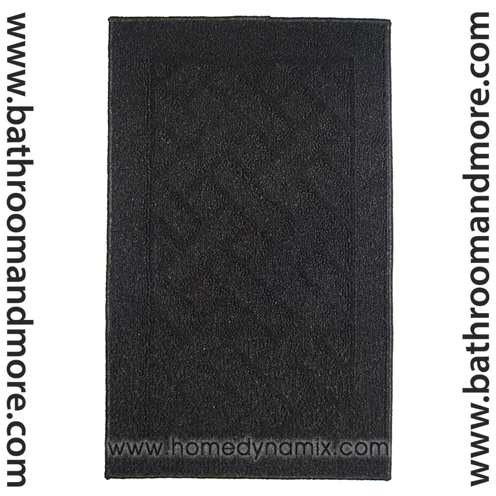 Home Dynamix Floor Mat Area Accent Rug Black Non Skid Backing 3