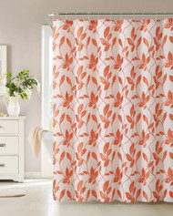 Fabric Shower Curtain, Leaf Design