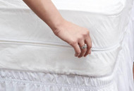 Mattress Cover: Breathable, Dustmite, Bed Bug, Allergen & Stain Resistant Mattress Protector - Quiet & Vinyl Free-Twin Size