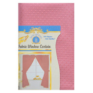 Pink Fabric Double Swag Window Curtain