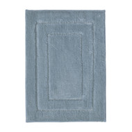 Midnight Blue Plush Absorbent Bath Floor Mat Area Rug: 17x24 or 21x34, Non-Skid Backing, Race Track Design