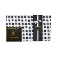 "6-Piece Bed Sheet Set: Black and Gray Geo Design, 16"" Pocket,  2 Extra Pillowcases"