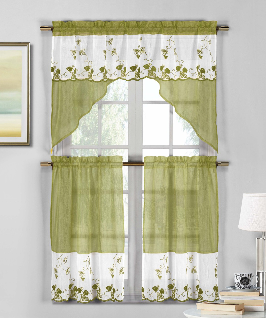 stunning Sage Green Window Valance Part - 9: Bathroom and More