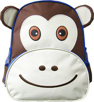 Monkey Backpack: Adjustable Straps, Top Handle, Mesh side pockets