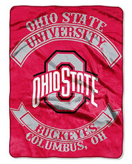 NCAA Ohio State Buckeyes Plush Raschel Blanket/Throw: Officially-Licensed, 60 x 80-Inch