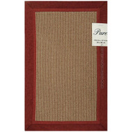 Red Floor Mat Area Accent Rug: Non-Skid Backing, 2 Sizes Available