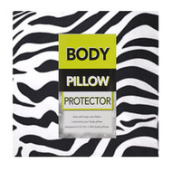 Animal Print Body Pillow Protector Cover/Case: 21in x 54in, Soft, Easy Care (Zebra)