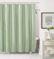 Sage PEVA 6 Gauge Shower Curtain Liner: Mildew Resistant, Chlorine Free, Odorless, Water-Repellent, Grommets and Magnets