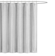 "Kensie Home Jane Fabric Shower Curtain: Subtle Pinstripe with Sequins Accents, 70"" x 72"" inches (Stone Grey)"