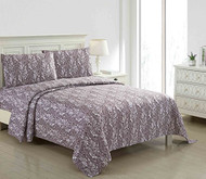4 Piece Bed Sheet Set Red and White Paisley Design (Queen)