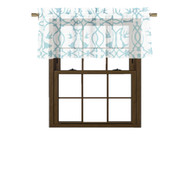 Bathroom and More Collection SHEER White Window Curtain Valance: Blue Bird, Flower & Vine Design (Single (1) Valance 56in W x 15in L)