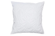 Single (1) 100% Cotton Euro/Square Size Pillow Sham White Diamond Design 26in x 26in