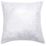 Bathroom and More Single (1) Euro/Square Size Pillow Sham with Metallic Accent 26in x 26in (White)