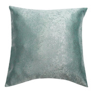 Bathroom and More Single (1) Euro/Square Size Pillow Sham with Metallic Accent 26in x 26in (Blue)